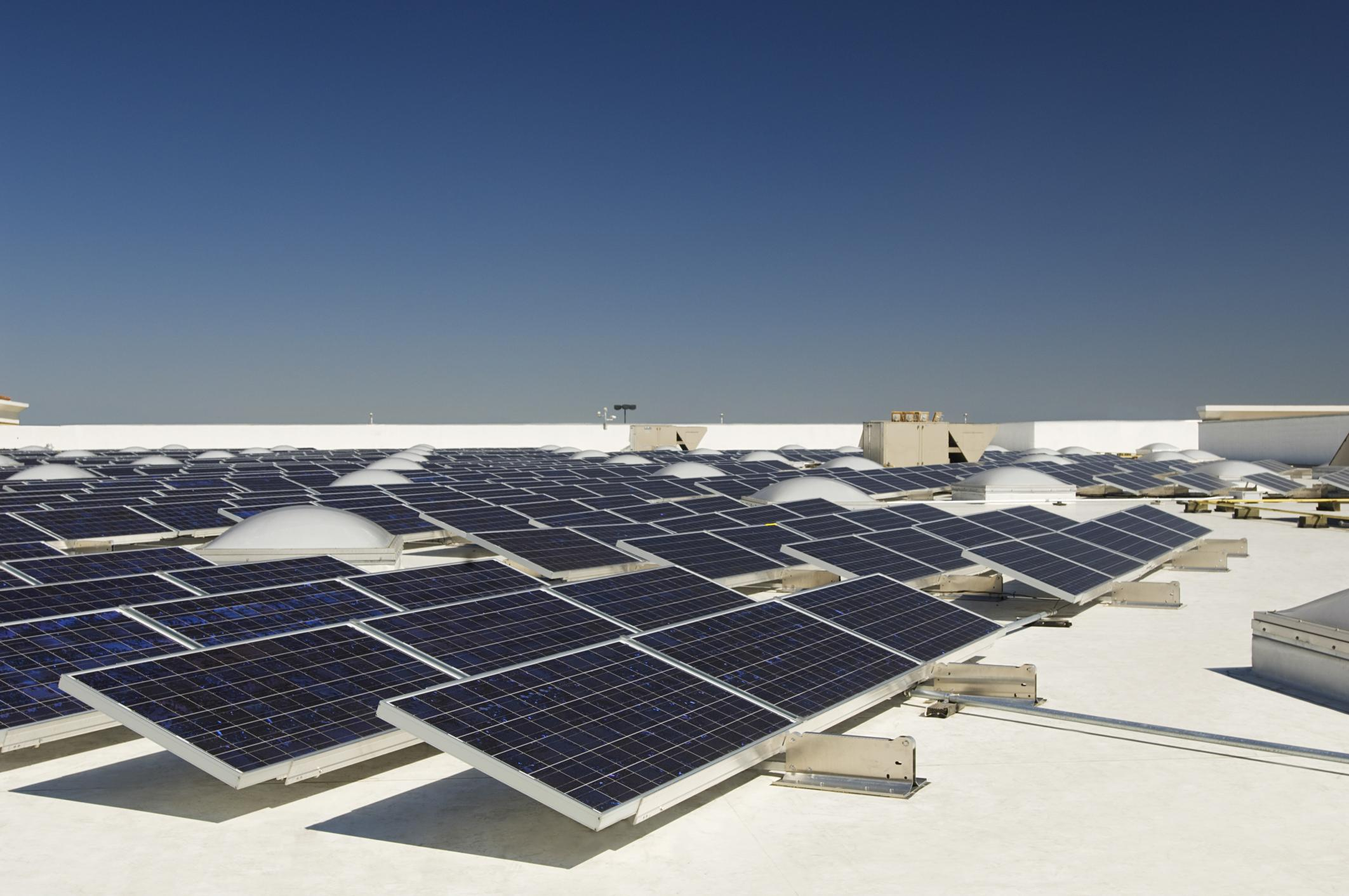This is a picture of a solar power Idaho falls service.
