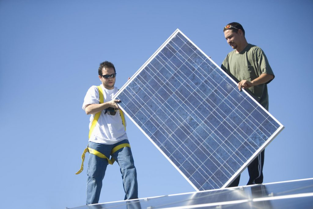 This is a picture of a solar power systems service.